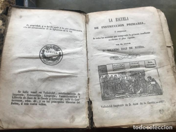 Libros antiguos: La escuela de instrucción primaria de Ricardo Diaz de Rueda 1867 - Foto 3 - 185976988