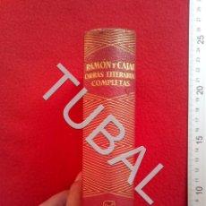Libros antiguos: TUBAL RAMON Y CAJAL OBRAS COMPLETAS AGUILAR JOYA ENVIO 2,35 € 2019 U9. Lote 185996172