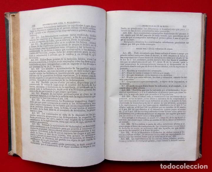 Libros antiguos: MANUAL COMPLETO DE DESAMORTIZACIÓN CIVIL Y ECLESIÁSTICA. AÑO: 1856. IGNACIO MIQUEL Y D.JOSE REUS. - Foto 5 - 186008003