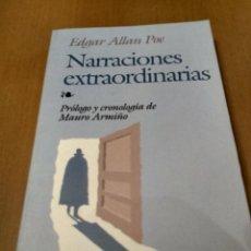 Libros antiguos: NARRACIONES EXTRAORDINARIAS. Lote 186023812