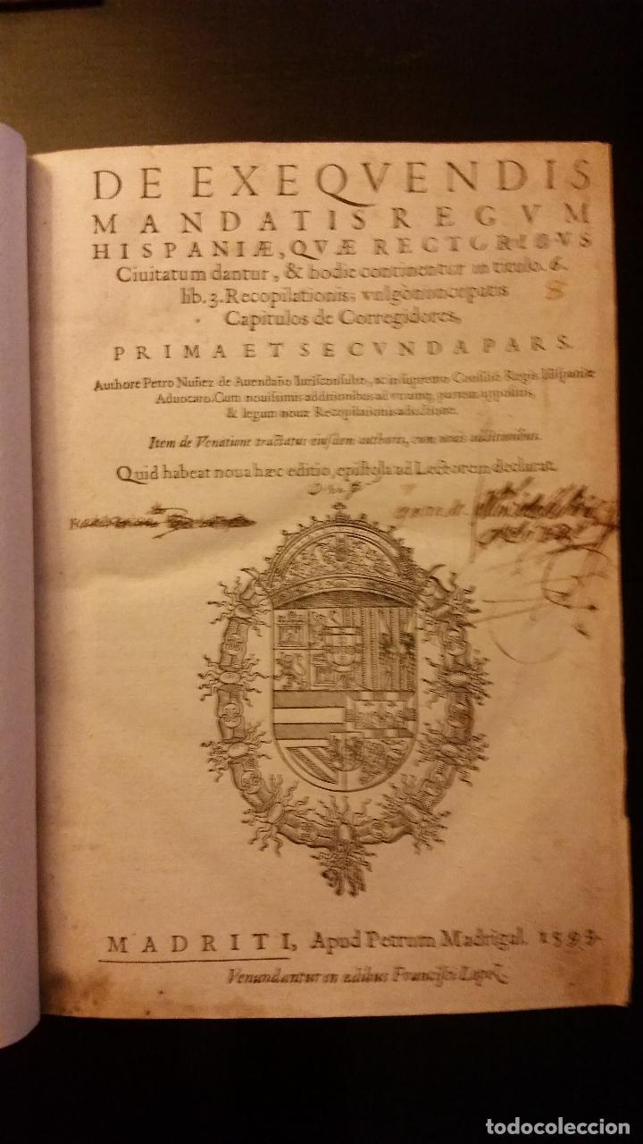 Libros antiguos: 1593 - PEDRO NUÑEZ DE AVENDAÑO - Aviso de Caçadores, y Caza - Foto 3 - 186056538