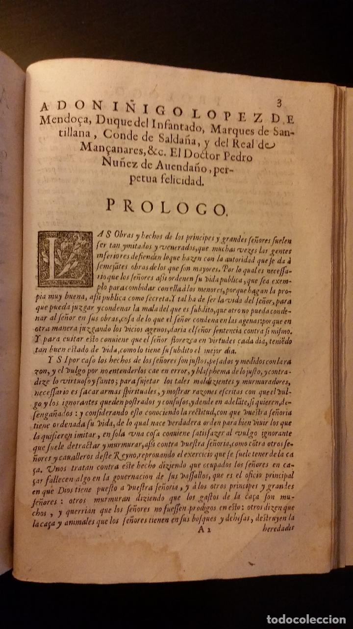 Libros antiguos: 1593 - PEDRO NUÑEZ DE AVENDAÑO - Aviso de Caçadores, y Caza - Foto 10 - 186056538