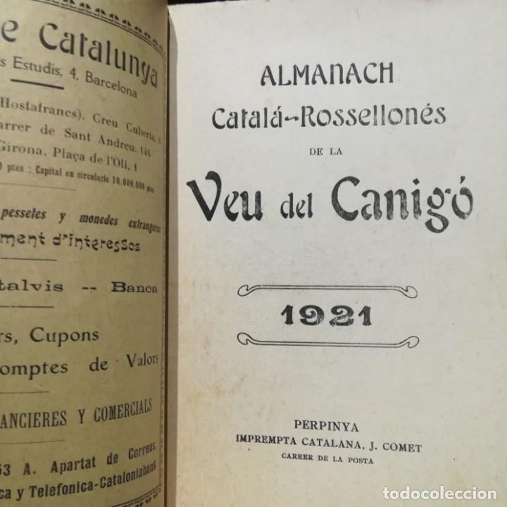 Libros antiguos: ALMANACH CATALA ROSSELLONES DE LA VEU DEL CANIGO-PERPINYA-1921 - Foto 4 - 186064377