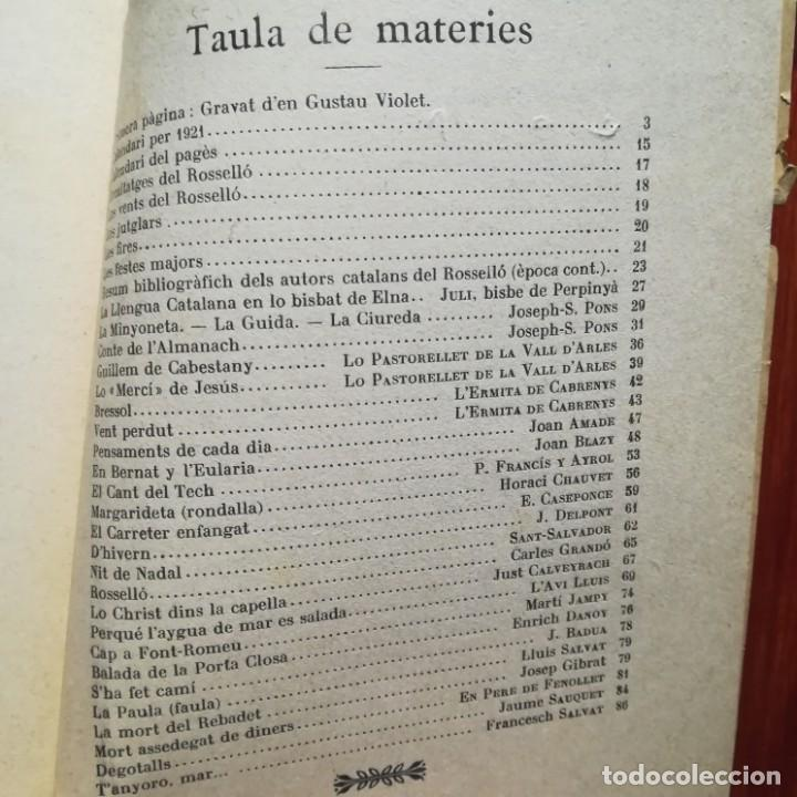 Libros antiguos: ALMANACH CATALA ROSSELLONES DE LA VEU DEL CANIGO-PERPINYA-1921 - Foto 5 - 186064377