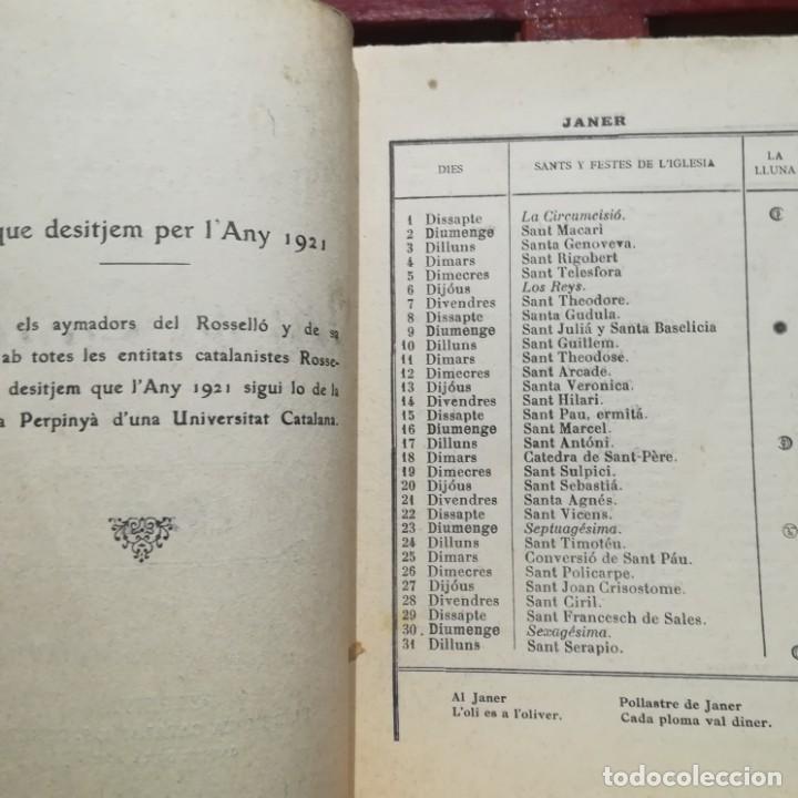 Libros antiguos: ALMANACH CATALA ROSSELLONES DE LA VEU DEL CANIGO-PERPINYA-1921 - Foto 6 - 186064377