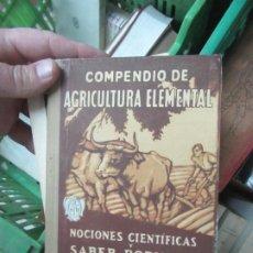 Libri antichi: COMPENDIO DE AGRICULTURA ELEMENTAL, VALERIO SERRA BOLDÚ. (1928). L.20020. Lote 186065088