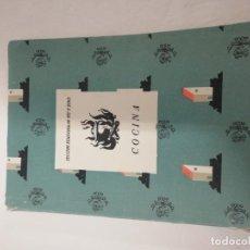 Libros antiguos: MANUAL DE COCINA PARA ALUMNAS DE BACHILLERATO. Lote 186081716