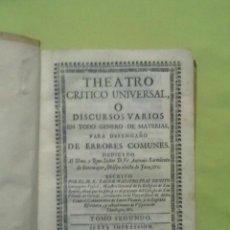 Libros antiguos: THEATRO CRITICO UNIVERSAL.. Lote 186116983