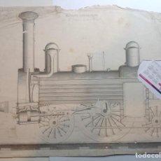Libros antiguos: AÑO 1839 LOTE DE 19 GRANDES LAMINAS DE FERROCARRIL TREN * INCUNABLE FERROVIARIO * LOCOMOTORAS * 61CM. Lote 186128423