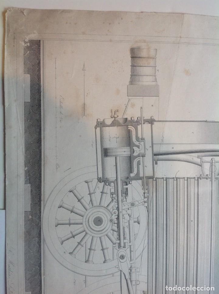 Libros antiguos: Año 1839 lote de 19 grandes laminas de Ferrocarril tren * incunable ferroviario * locomotoras * 61cm - Foto 5 - 186128423