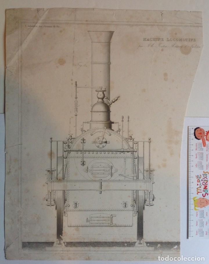 Libros antiguos: Año 1839 lote de 19 grandes laminas de Ferrocarril tren * incunable ferroviario * locomotoras * 61cm - Foto 7 - 186128423