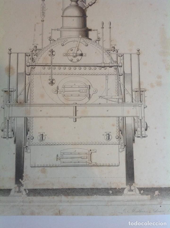 Libros antiguos: Año 1839 lote de 19 grandes laminas de Ferrocarril tren * incunable ferroviario * locomotoras * 61cm - Foto 9 - 186128423