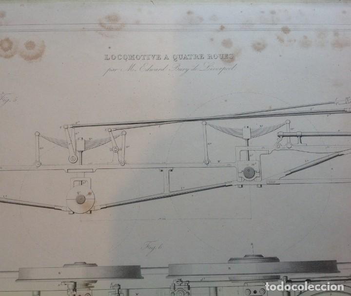 Libros antiguos: Año 1839 lote de 19 grandes laminas de Ferrocarril tren * incunable ferroviario * locomotoras * 61cm - Foto 11 - 186128423