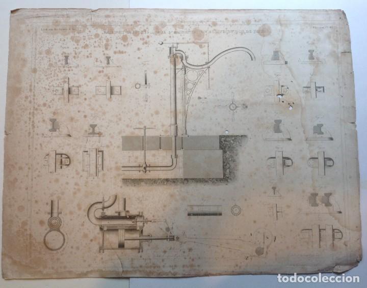 Libros antiguos: Año 1839 lote de 19 grandes laminas de Ferrocarril tren * incunable ferroviario * locomotoras * 61cm - Foto 13 - 186128423