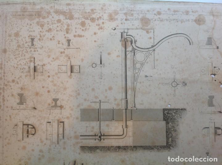 Libros antiguos: Año 1839 lote de 19 grandes laminas de Ferrocarril tren * incunable ferroviario * locomotoras * 61cm - Foto 14 - 186128423