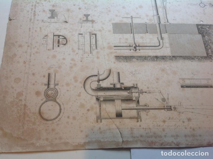 Libros antiguos: Año 1839 lote de 19 grandes laminas de Ferrocarril tren * incunable ferroviario * locomotoras * 61cm - Foto 15 - 186128423