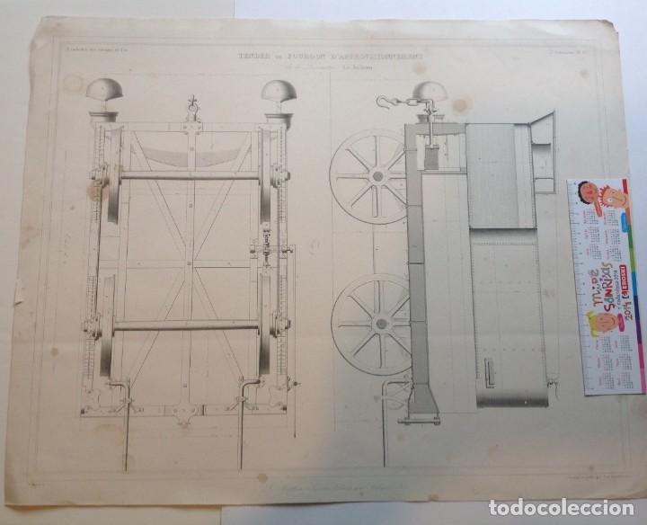 Libros antiguos: Año 1839 lote de 19 grandes laminas de Ferrocarril tren * incunable ferroviario * locomotoras * 61cm - Foto 17 - 186128423