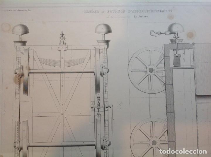 Libros antiguos: Año 1839 lote de 19 grandes laminas de Ferrocarril tren * incunable ferroviario * locomotoras * 61cm - Foto 18 - 186128423