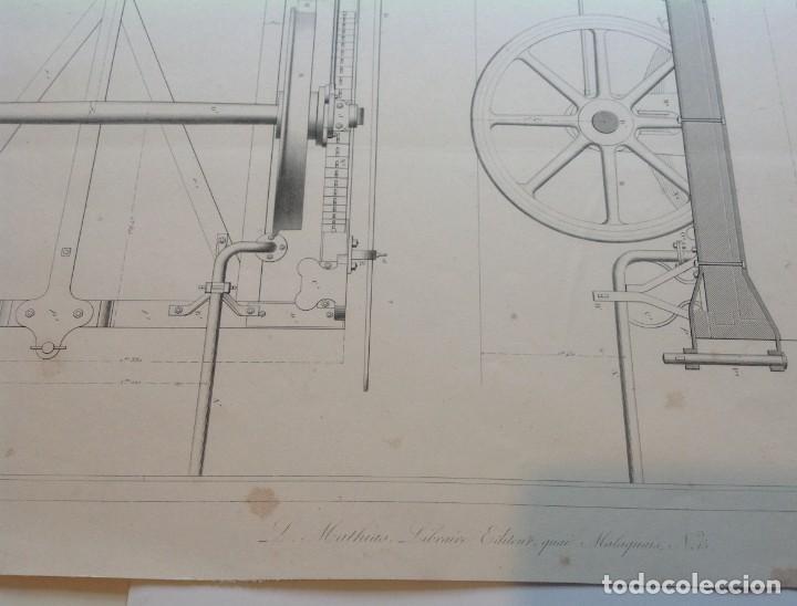 Libros antiguos: Año 1839 lote de 19 grandes laminas de Ferrocarril tren * incunable ferroviario * locomotoras * 61cm - Foto 19 - 186128423