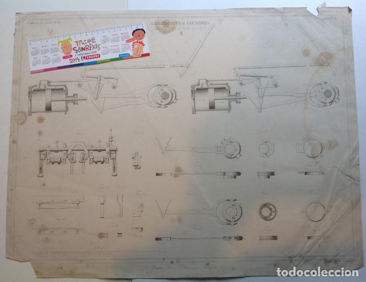 Libros antiguos: Año 1839 lote de 19 grandes laminas de Ferrocarril tren * incunable ferroviario * locomotoras * 61cm - Foto 20 - 186128423
