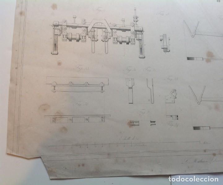 Libros antiguos: Año 1839 lote de 19 grandes laminas de Ferrocarril tren * incunable ferroviario * locomotoras * 61cm - Foto 22 - 186128423