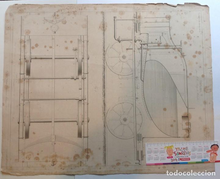 Libros antiguos: Año 1839 lote de 19 grandes laminas de Ferrocarril tren * incunable ferroviario * locomotoras * 61cm - Foto 27 - 186128423