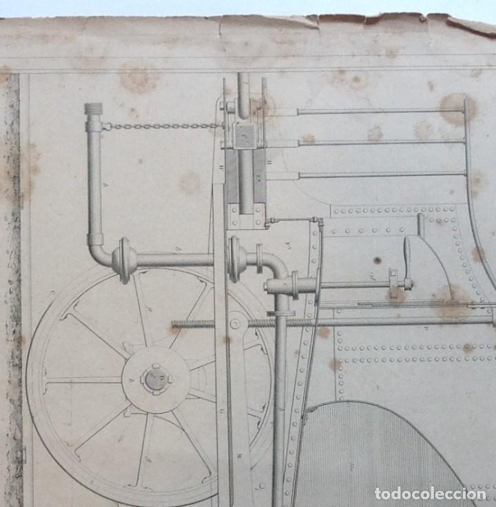 Libros antiguos: Año 1839 lote de 19 grandes laminas de Ferrocarril tren * incunable ferroviario * locomotoras * 61cm - Foto 28 - 186128423