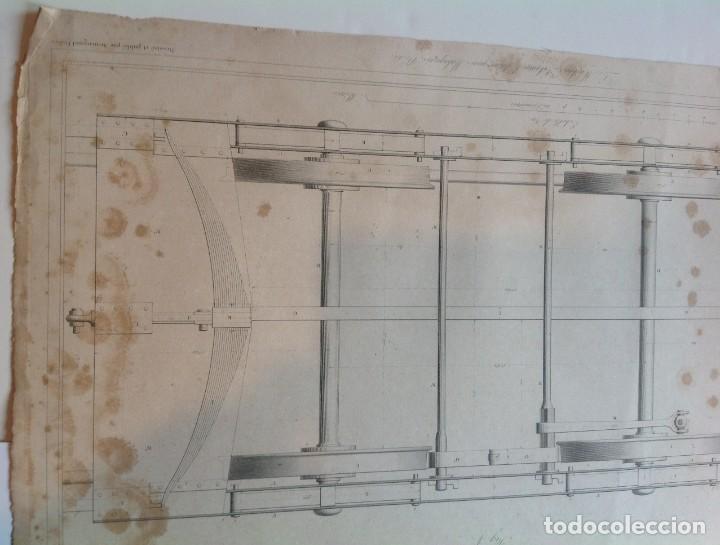 Libros antiguos: Año 1839 lote de 19 grandes laminas de Ferrocarril tren * incunable ferroviario * locomotoras * 61cm - Foto 29 - 186128423