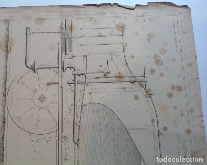 Libros antiguos: Año 1839 lote de 19 grandes laminas de Ferrocarril tren * incunable ferroviario * locomotoras * 61cm - Foto 30 - 186128423