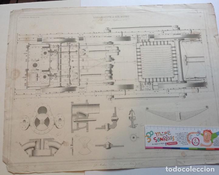 Libros antiguos: Año 1839 lote de 19 grandes laminas de Ferrocarril tren * incunable ferroviario * locomotoras * 61cm - Foto 32 - 186128423