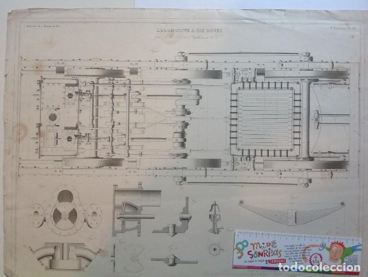 Libros antiguos: Año 1839 lote de 19 grandes laminas de Ferrocarril tren * incunable ferroviario * locomotoras * 61cm - Foto 33 - 186128423
