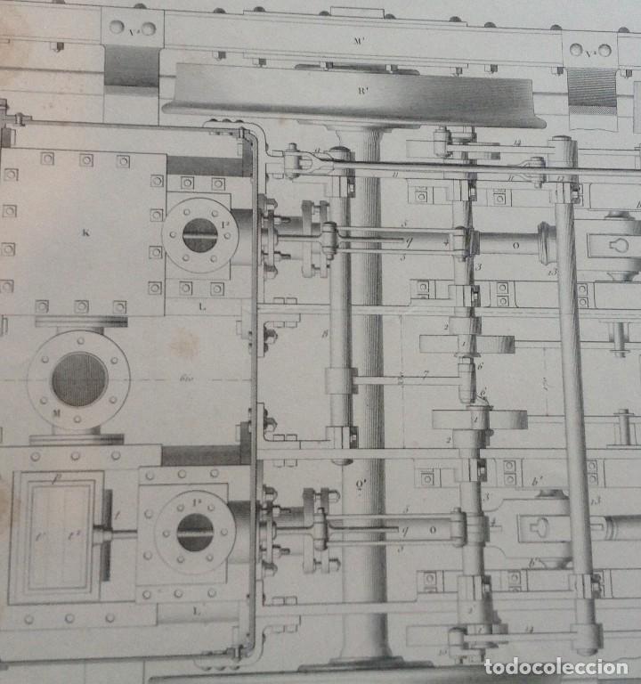 Libros antiguos: Año 1839 lote de 19 grandes laminas de Ferrocarril tren * incunable ferroviario * locomotoras * 61cm - Foto 34 - 186128423