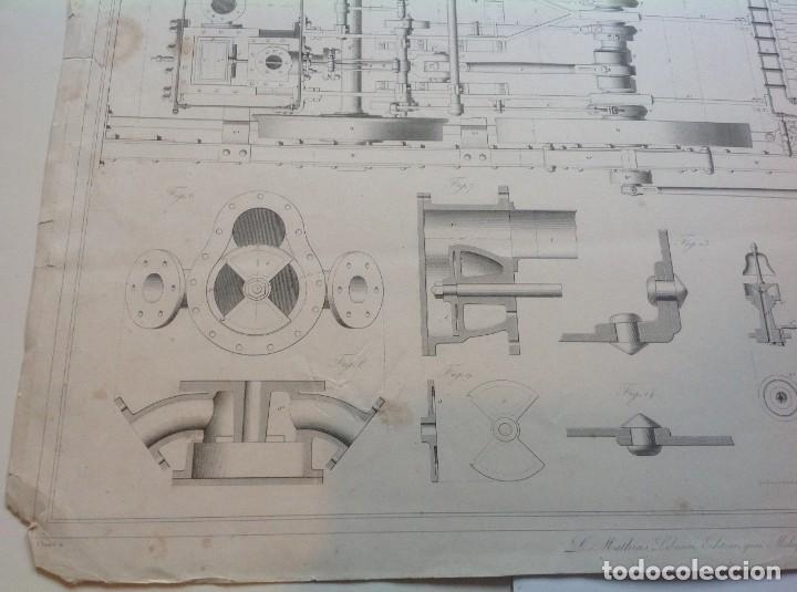 Libros antiguos: Año 1839 lote de 19 grandes laminas de Ferrocarril tren * incunable ferroviario * locomotoras * 61cm - Foto 36 - 186128423