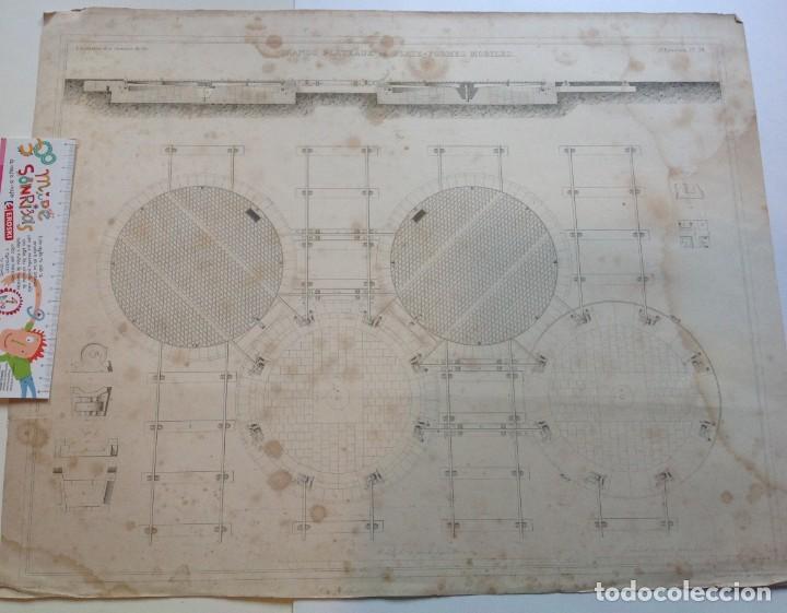 Libros antiguos: Año 1839 lote de 19 grandes laminas de Ferrocarril tren * incunable ferroviario * locomotoras * 61cm - Foto 37 - 186128423