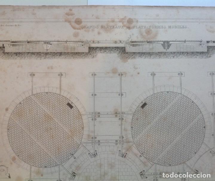 Libros antiguos: Año 1839 lote de 19 grandes laminas de Ferrocarril tren * incunable ferroviario * locomotoras * 61cm - Foto 38 - 186128423