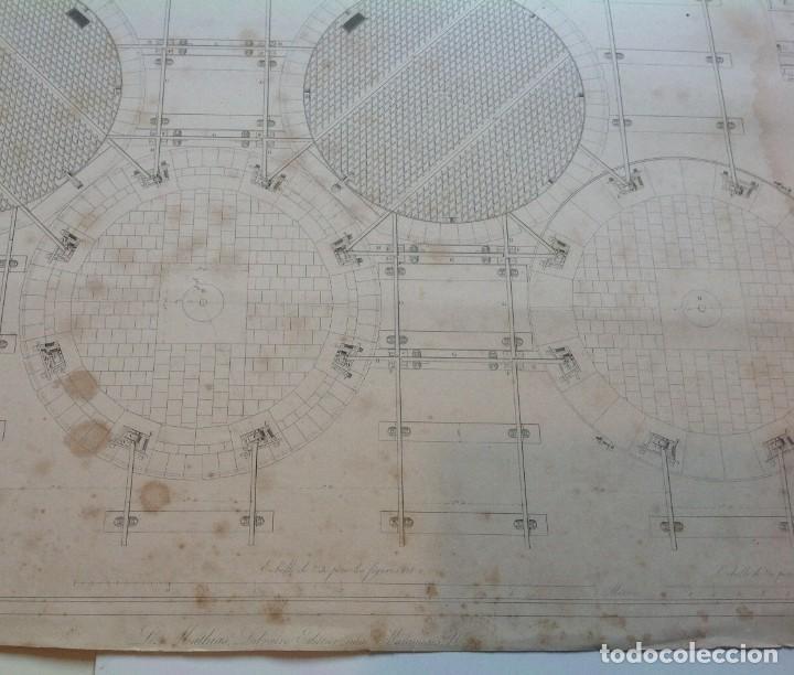 Libros antiguos: Año 1839 lote de 19 grandes laminas de Ferrocarril tren * incunable ferroviario * locomotoras * 61cm - Foto 39 - 186128423