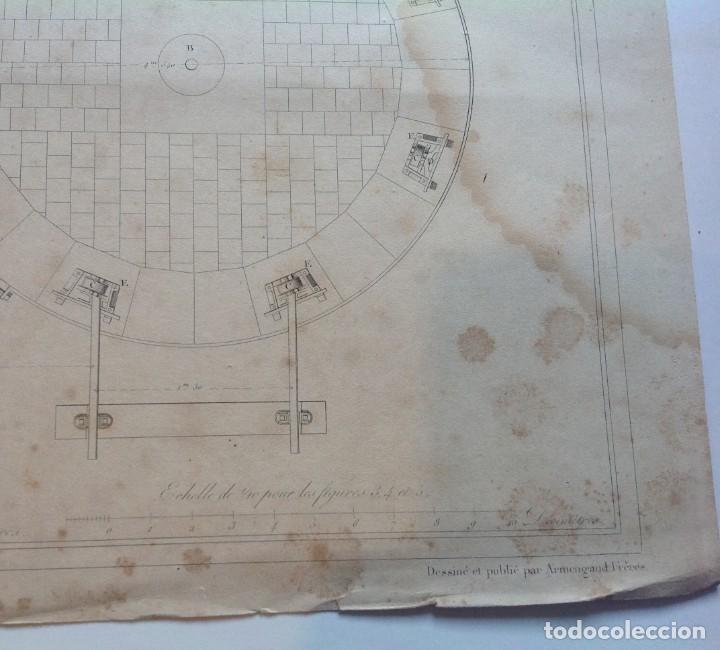 Libros antiguos: Año 1839 lote de 19 grandes laminas de Ferrocarril tren * incunable ferroviario * locomotoras * 61cm - Foto 40 - 186128423