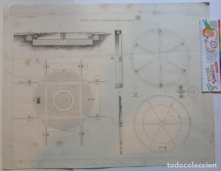 Libros antiguos: Año 1839 lote de 19 grandes laminas de Ferrocarril tren * incunable ferroviario * locomotoras * 61cm - Foto 41 - 186128423