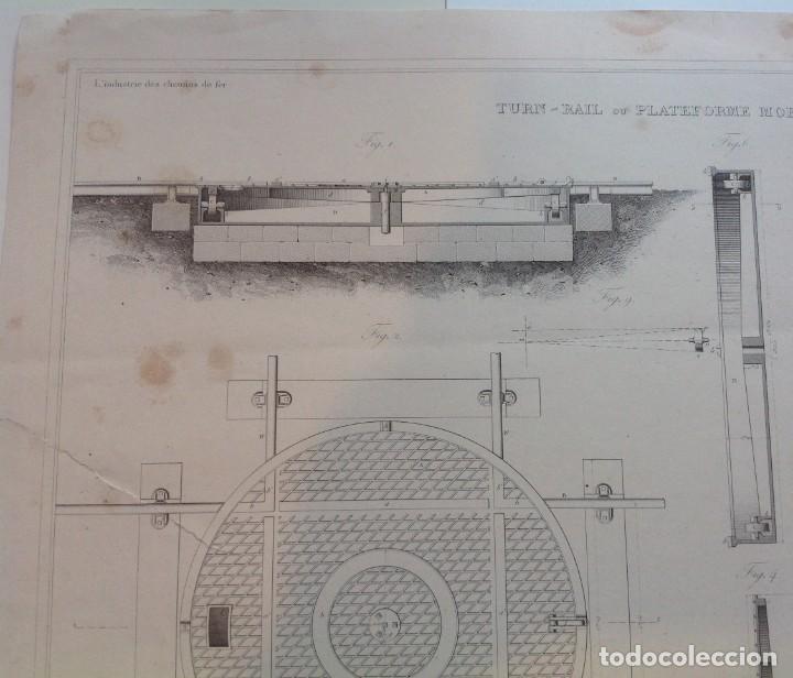 Libros antiguos: Año 1839 lote de 19 grandes laminas de Ferrocarril tren * incunable ferroviario * locomotoras * 61cm - Foto 42 - 186128423