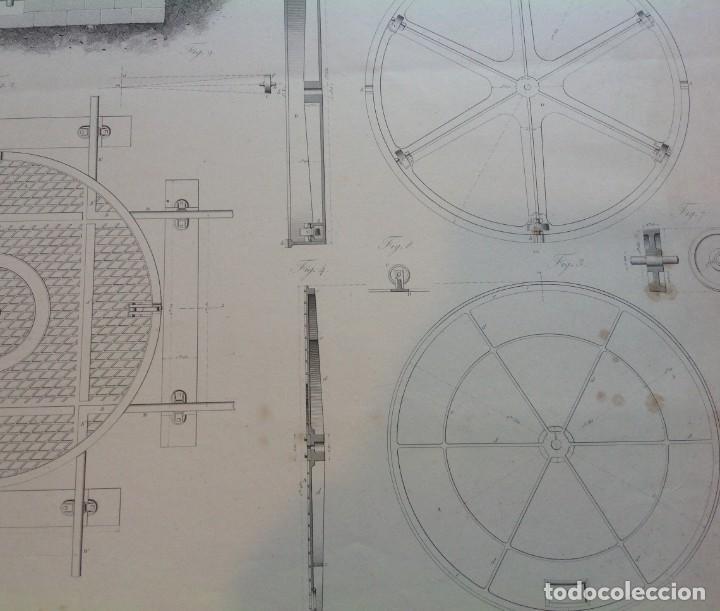 Libros antiguos: Año 1839 lote de 19 grandes laminas de Ferrocarril tren * incunable ferroviario * locomotoras * 61cm - Foto 43 - 186128423