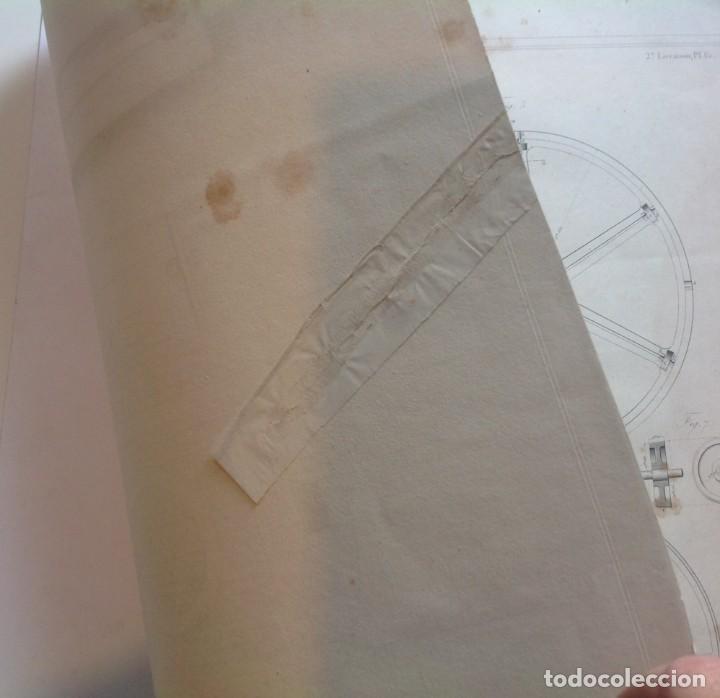 Libros antiguos: Año 1839 lote de 19 grandes laminas de Ferrocarril tren * incunable ferroviario * locomotoras * 61cm - Foto 44 - 186128423