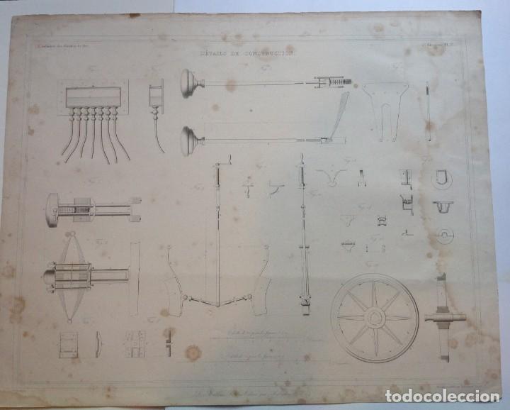 Libros antiguos: Año 1839 lote de 19 grandes laminas de Ferrocarril tren * incunable ferroviario * locomotoras * 61cm - Foto 45 - 186128423