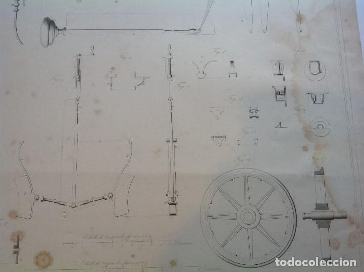 Libros antiguos: Año 1839 lote de 19 grandes laminas de Ferrocarril tren * incunable ferroviario * locomotoras * 61cm - Foto 47 - 186128423