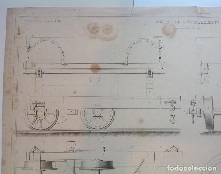 Libros antiguos: Año 1839 lote de 19 grandes laminas de Ferrocarril tren * incunable ferroviario * locomotoras * 61cm - Foto 49 - 186128423