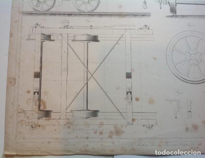 Libros antiguos: Año 1839 lote de 19 grandes laminas de Ferrocarril tren * incunable ferroviario * locomotoras * 61cm - Foto 50 - 186128423