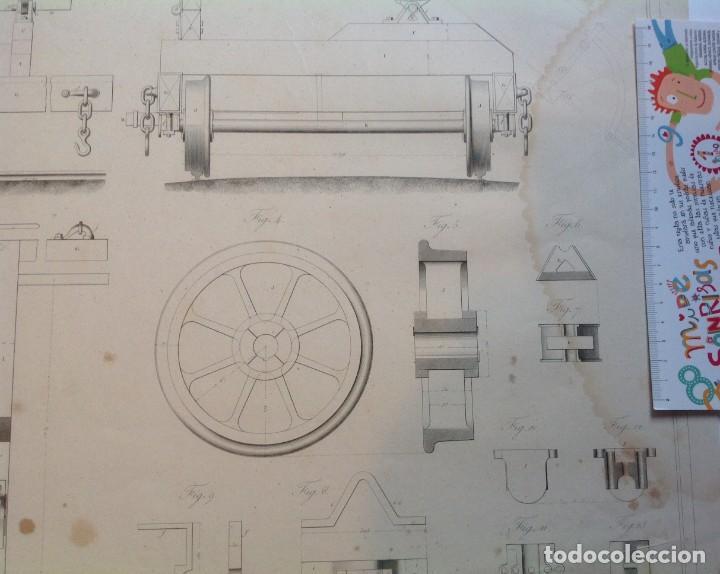 Libros antiguos: Año 1839 lote de 19 grandes laminas de Ferrocarril tren * incunable ferroviario * locomotoras * 61cm - Foto 51 - 186128423