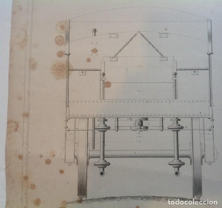 Libros antiguos: Año 1839 lote de 19 grandes laminas de Ferrocarril tren * incunable ferroviario * locomotoras * 61cm - Foto 53 - 186128423