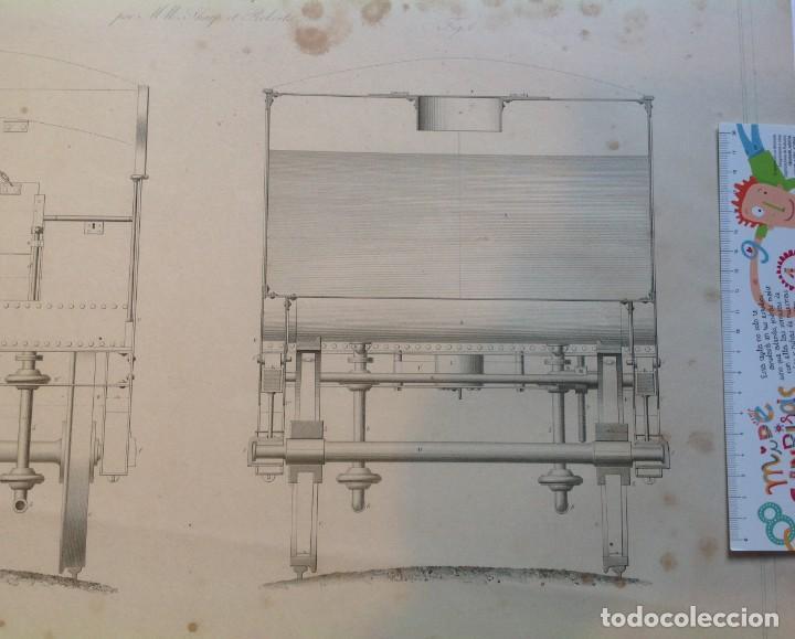Libros antiguos: Año 1839 lote de 19 grandes laminas de Ferrocarril tren * incunable ferroviario * locomotoras * 61cm - Foto 54 - 186128423