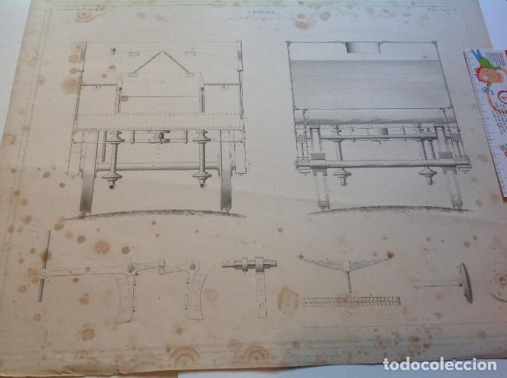 Libros antiguos: Año 1839 lote de 19 grandes laminas de Ferrocarril tren * incunable ferroviario * locomotoras * 61cm - Foto 55 - 186128423