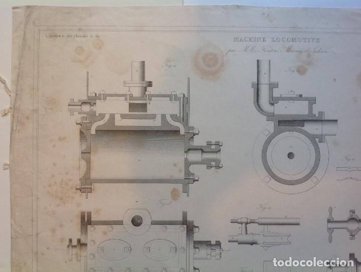 Libros antiguos: Año 1839 lote de 19 grandes laminas de Ferrocarril tren * incunable ferroviario * locomotoras * 61cm - Foto 57 - 186128423